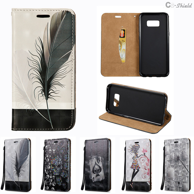 3D Flip Case for Samsung Galaxy S8 Plus S8Plus S8+ G955FD SM-G955FD Case Leather Cover for Samsung S 8 Plus 8Plus G955F SM-G955F