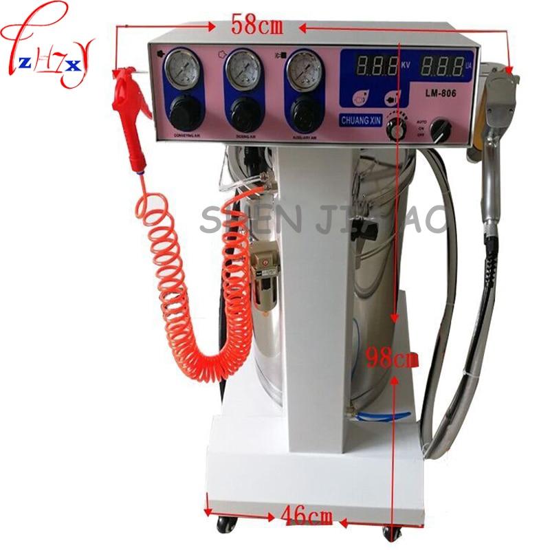 1 PZ LM-806 polvere di spruzzatura elettrostatica ad alta pressione intelligente / macchina a spruzzo / macchina a spruzzo rivestimento macchina pistola vernice