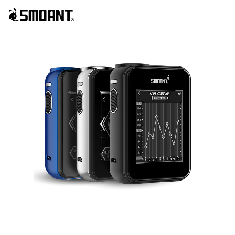 Original Smoant CHARON TS 218 BOX MOD With 2.4 inch Touch Screen Power By Dual 18650 Battery Charon 218w TC 510 Thread Vape Mod цена 2017