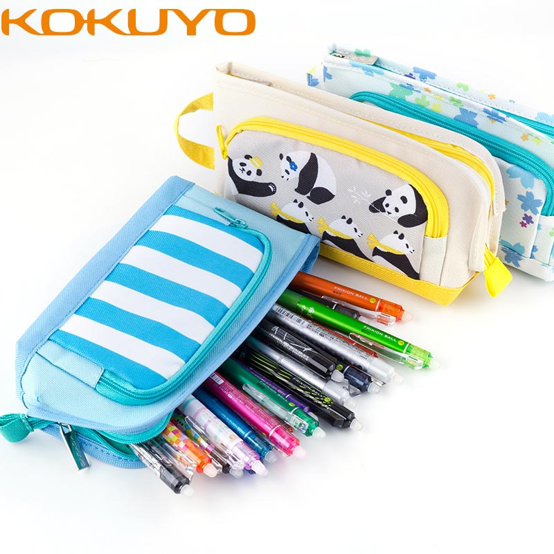 KUKUYO Animal Pencil Cases For Girls Japan Capacity Pencil Canvas Roll Up School Cute Zipper Pencil Bag Box For School Supplies zest zest 23742 3