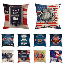 Decorative Cushion Cover 45X45cm American USA Flag Sofa Bed Home Decoration Festival Pillow Case Cushion Cover Dropship ZY1243(China)