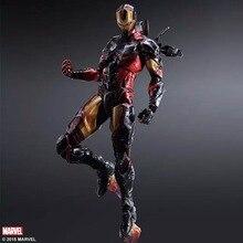Play Arts  Marvel 25cm Iron Man Super Hero Ironman Action Figure Toys