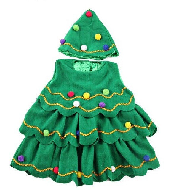 62e031b399a fashion kids fancy costumes for girls frocks green toddler girls christmas  dress with hats in dresses