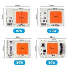 LED Grow Light full spectrum 50W Chip 10W 20W 30W Grow Lamp 220V 230V Hydroponics Greenhouse Growing Lights Lamp for Plants