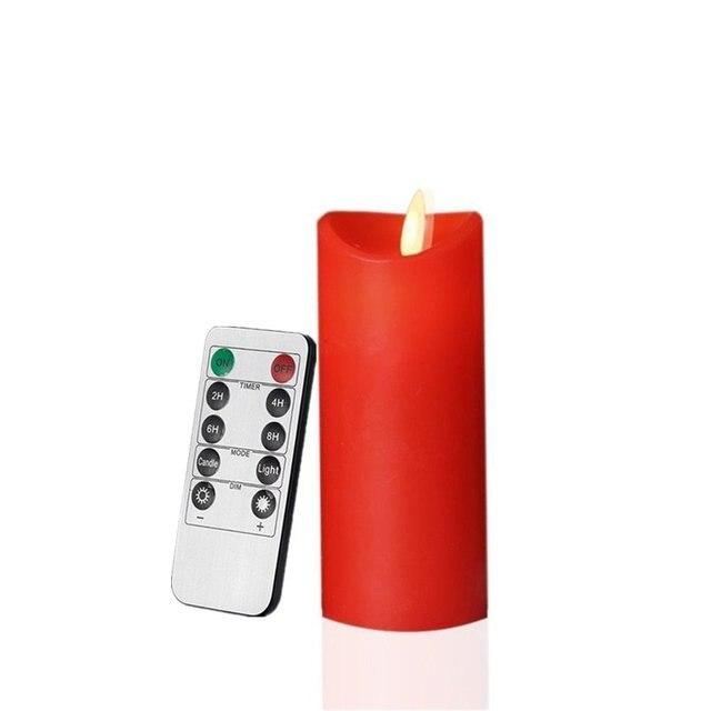 10 Keys Fernbedienung Batterie Power Smokeless Tanzenden Flamme
