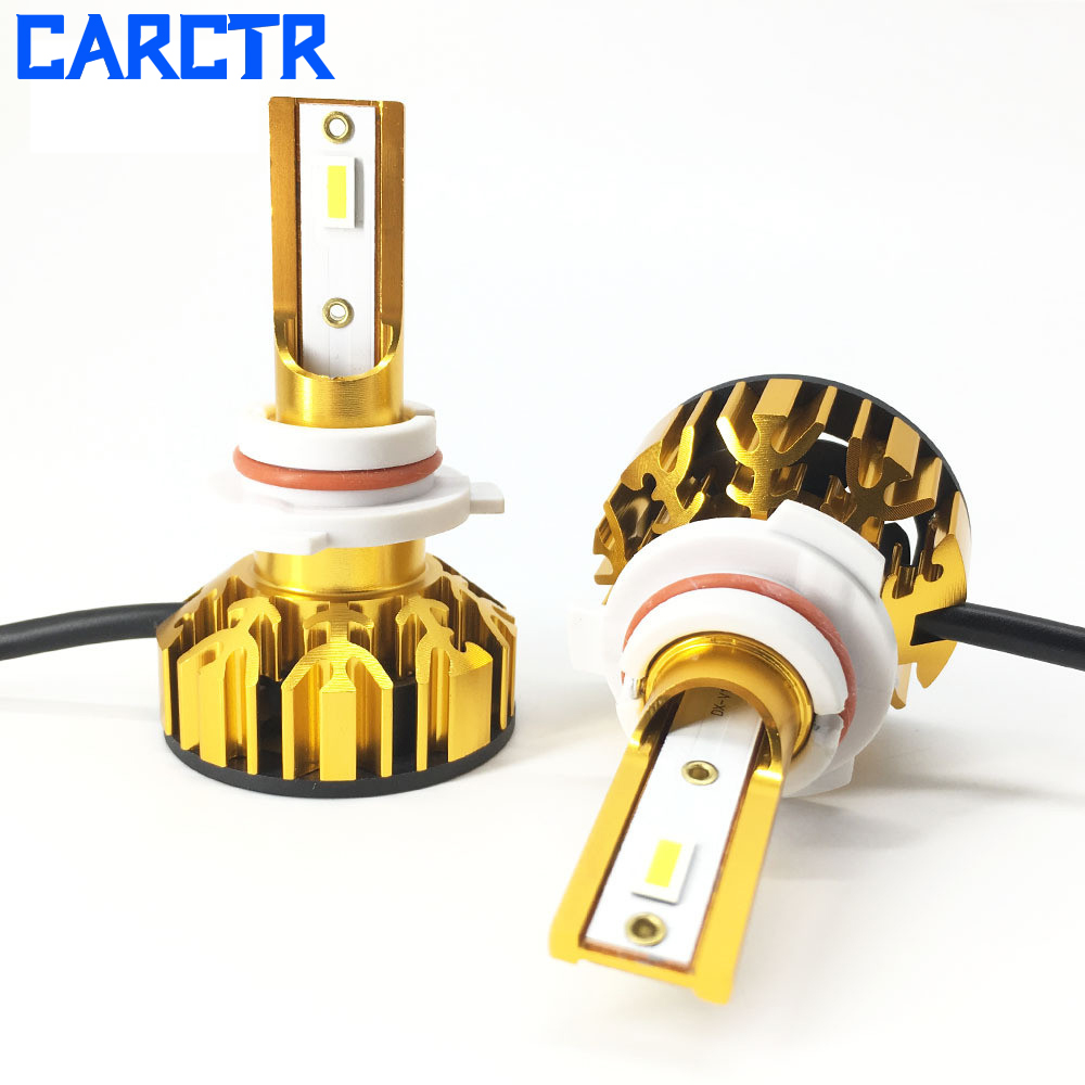 CARCTR 2 PCS LED Car Headlights LED Headlights Car Fog LampH1 H3 H4 H7 9005 9006