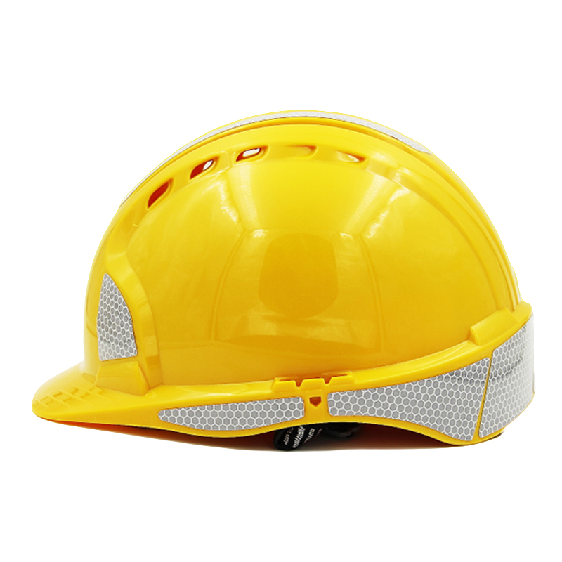 Safety Helmet Reflective Strip Work Cap High-strength ABS Material Engineering Construction Helmets Working Protective Hard Hat