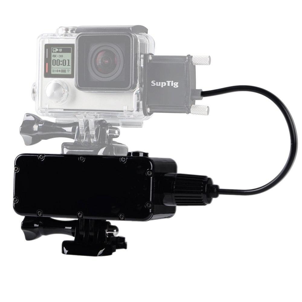 Suptig Étanche Puissance Banque pour GoPro Hero 6 5 4 Hero 4 session 3 + 3 et Xiaomi Yi 4 k 4 k + Lite SJCam SJ4000 Sj7 Smartphone