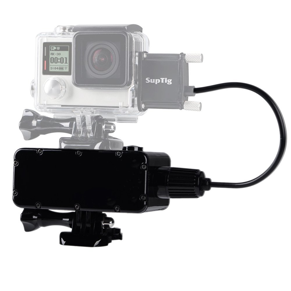 Suptig 5200mAh Waterproof Power Bank for GoPro Hero 6 5 4 Hero 4 session 3+ 3 and Xiaomi Yi 4k 4k SJCam SJ4000 Smartphone