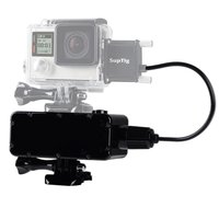 Suptig Waterproof Power Bank for GoPro Hero7 6 5 4 Hero 4 session 3+3 Xiaomi Yi 4k 4k+Lite SJCam SJ4000 Insta360 Smartphone