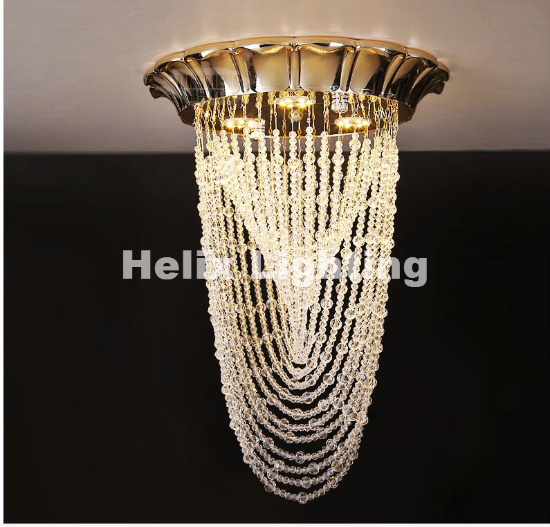 New Arrival  Golden Pendant Modern LED  Lights For Living Room LED AC Crystal Celling Lamps Dining Room Bedroom Lighting a1 master bedroom living room lamp crystal pendant lights dining room lamp european style dual use fashion pendant lamps