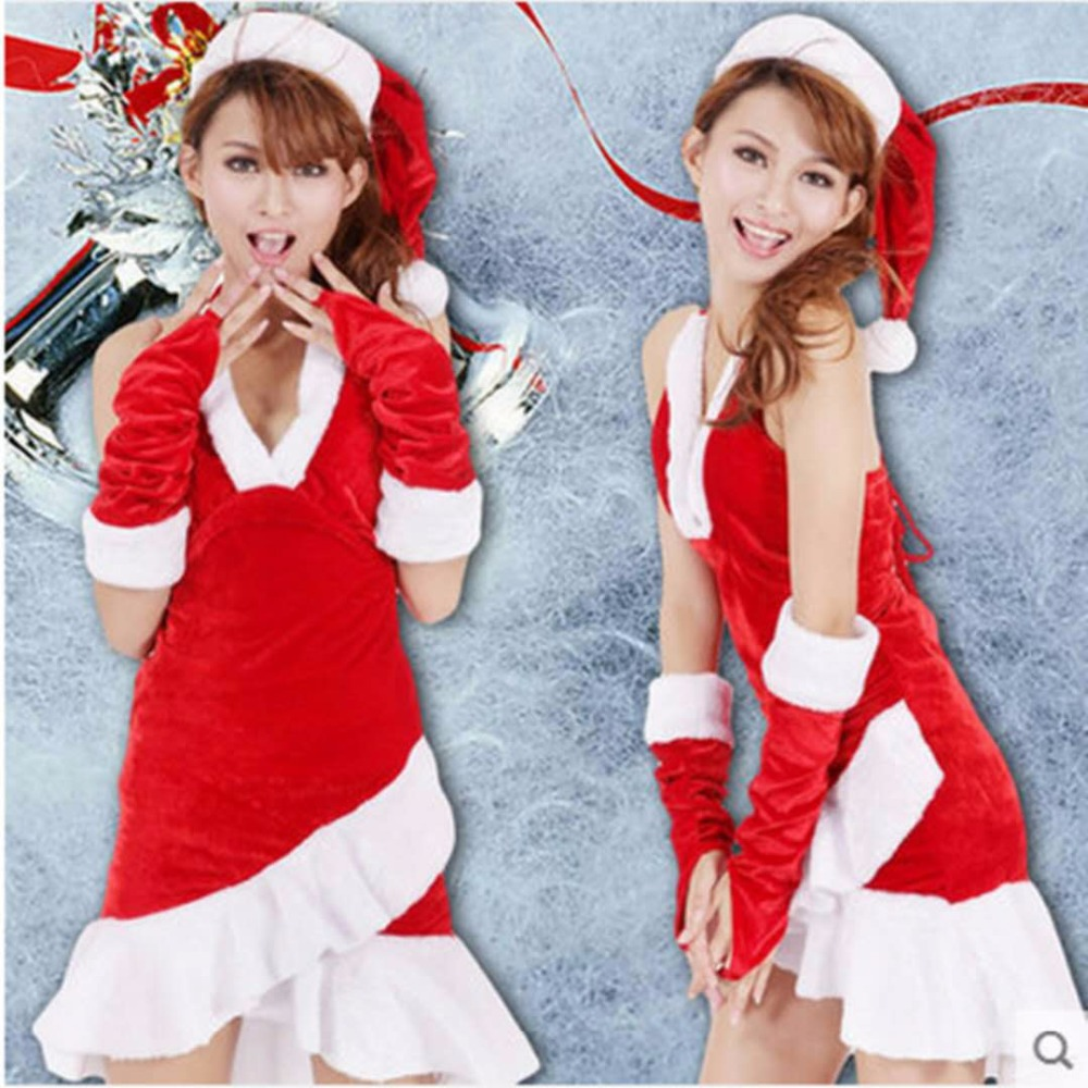 2018 new Christmas high-quality red costume sexy party dress princess costume fashion role-playing clothing