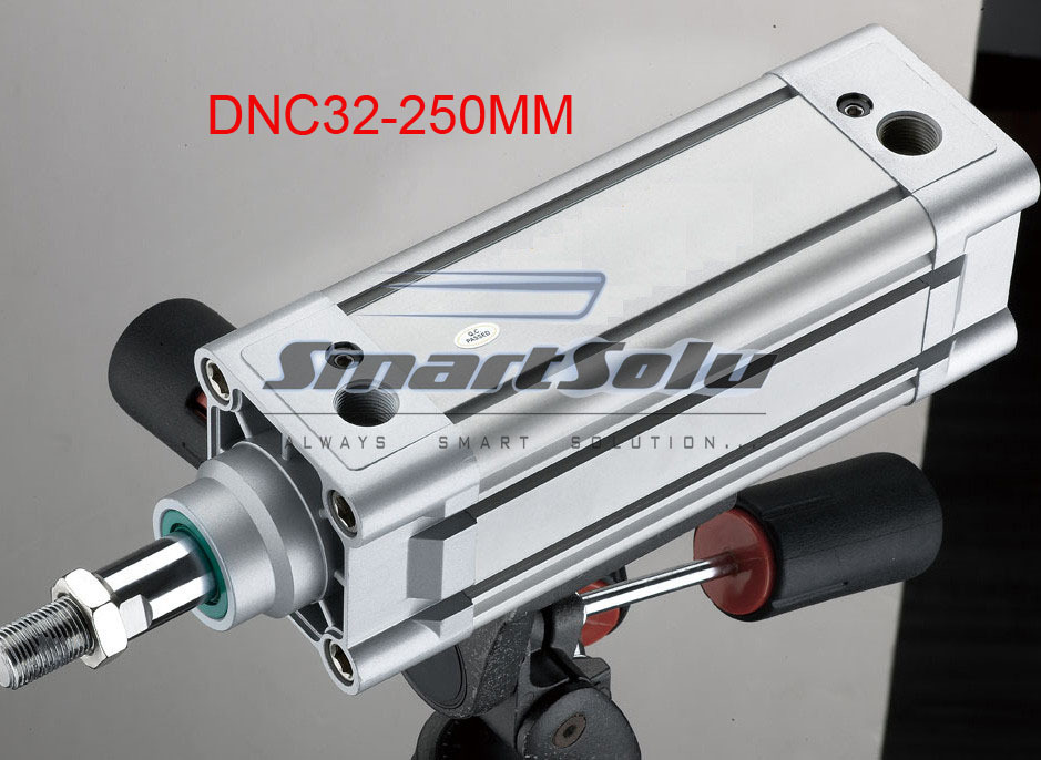 free shipping ISO6431 standard DNC32-250-PPV-A aluminum material 32mm bore,250mm stroke, pneumatic cyilnder, air cylinder free shipping 5pcs lots lng 100 iso6431 cylinder attachment inclined installation of the support dnc se cylinder accessories