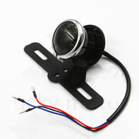 Motorcycle Metal Brake Stop Tail Light License Plate Lamp Black For Honda Nighthawk 250 Shadow ACE 1100