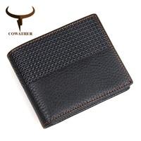 COWATHER 2017 Hot High Quality Genuine Leather Wallet Men Wallets Fashion Organizer Purse Pattern 8147