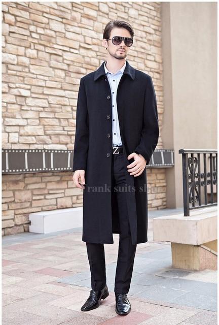 Custom made Single Breasted Wool Coats Turn-down Collar Men's Woolen Coat New 2017 Winter Jackets Design Overcoat