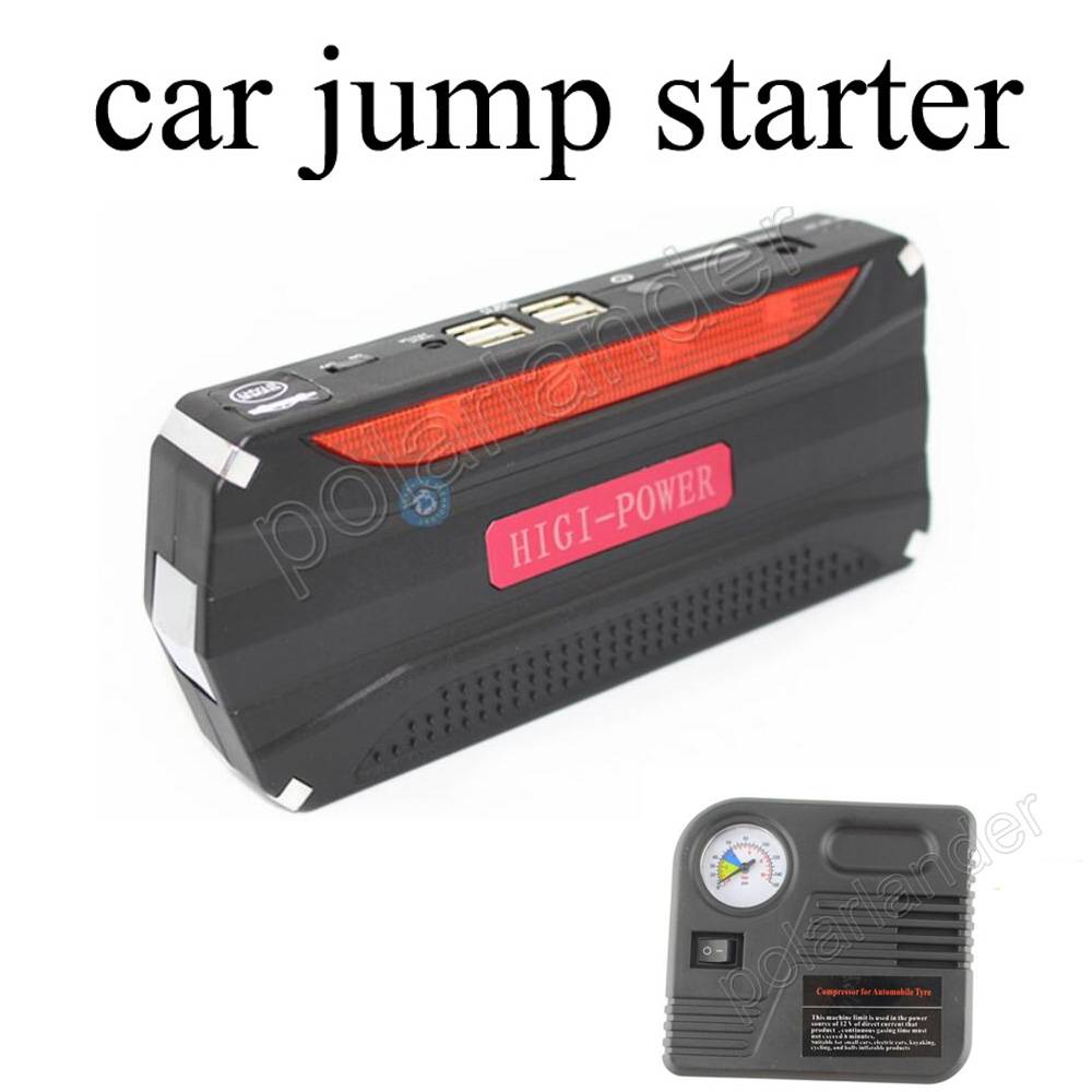 Aliexpress com buy 68800 mah car jump starter with pump 12v engine multi function emergency power bank battery charger 4 usb input booster from reliable