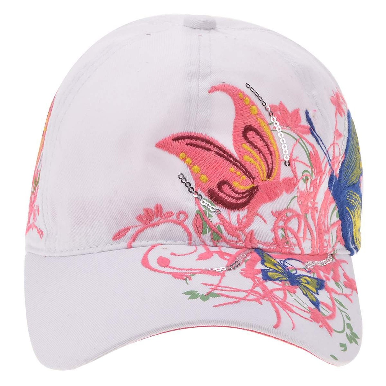 Female hat sports girls golf baseball cap white