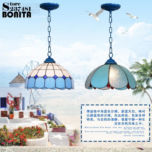 Bunte Glas Gemalt Handgemachte Hängende Lichter Schlafzimmer Mediterranen  Stil Brandschutz Nie Verblassen Anhänger Beleuchtung Moderne