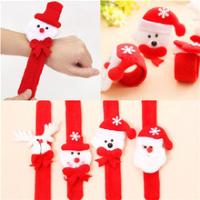 10pcs Christmas Decorations Christmas Patting Circle Christmas Children Gift Santa Claus Snowman Deer New Year Party Toys