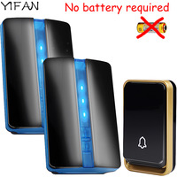 YIFAN New Wireless Doorbell NO Battery Waterproof EU Plug Led 150M Long Range Home Smart Door