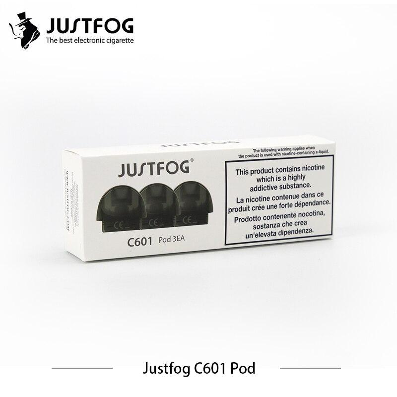 60pcs lot Original Justfog C601 pod for justfog C601 starter kit 1 7ml capacity top refill