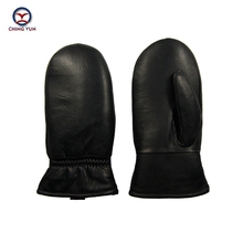 Winter Cotton Gloves Anti-freeze Cold Warm Men's High-quality Genuine Leather Wool Elastic Band Sheepskin Thick Plush Mittens