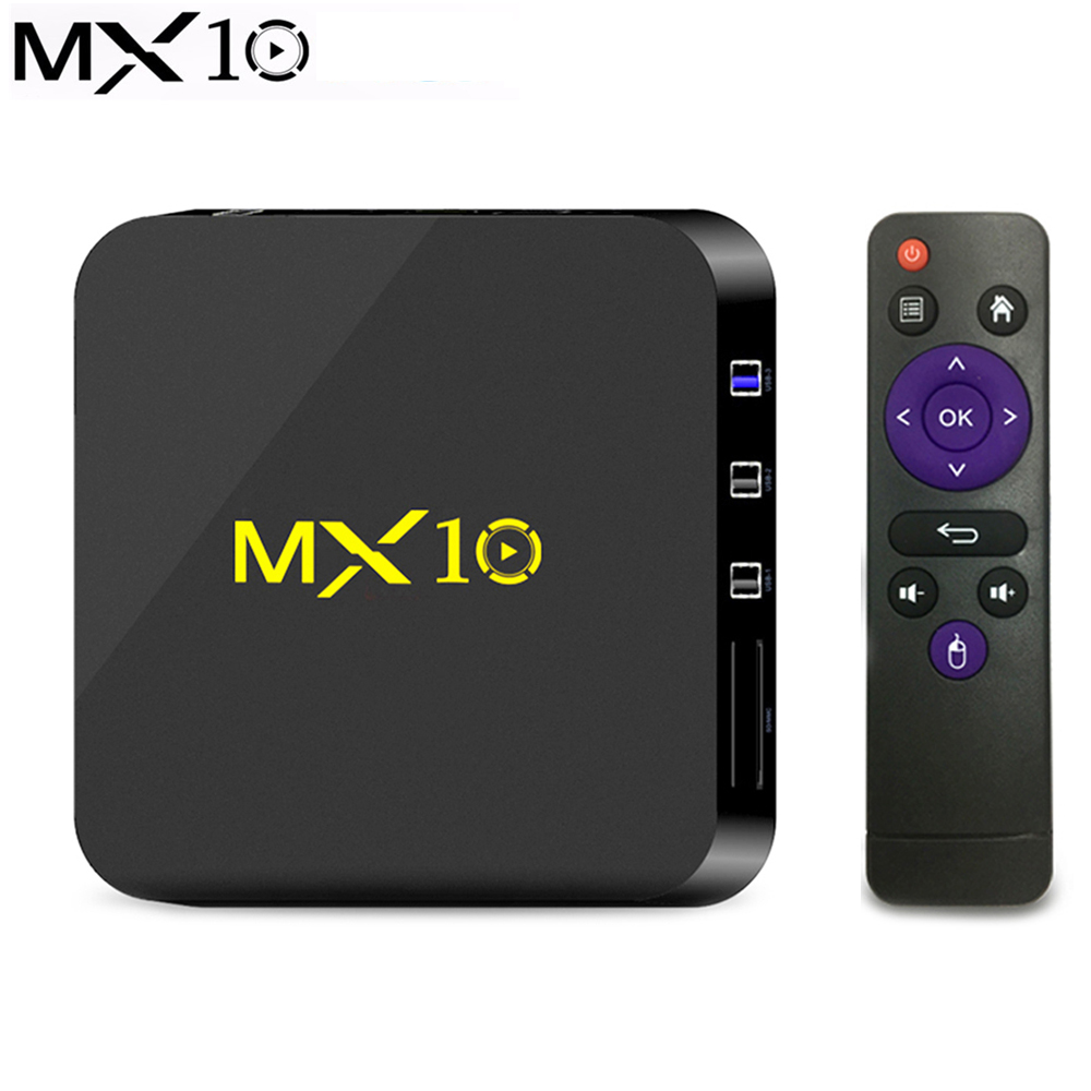 MX10 Smart TV BOX Android 8.1 Rockchip RK3328 DDR4 4GB 64GB IPTV Smart Set Top Box 4K USB 3.0 HDR H.265 Media Player TV Boxes цена