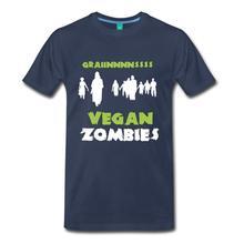 """""""Grainnnnssss – Vegan Zombies"""" men's t-shirt"""