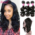 360 Lace Frontal With Bundle Brazilian Loose Wave 360 Frontal With Bundles Top 360 Lace Frontal Closure With 3Bundles Human Hair
