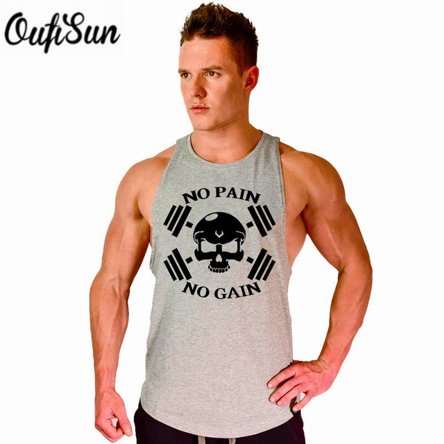 db4194e4 2017 Men's Tank Top Hot Sale Crossfit Clothes Muscle Golds Stringer male T  shirt print gyms casual Free Shipping