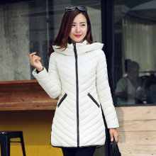 Winter New Women's Jacket Hooded Down Cotton Coat Slim Thick Warm Fashion Plus Size Long Wadded Jacket Female Casual Parka C1181