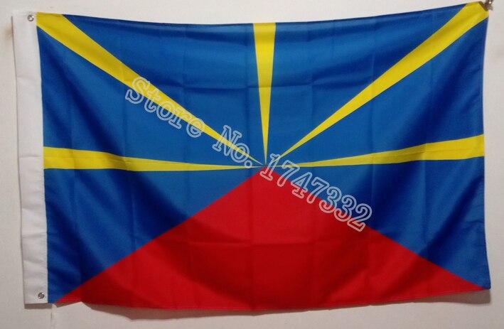 Reunion Island Flag hot sell goods 3X5FT 150X90CM Banner brass metal holes