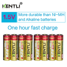 8pcs/lot KENTLI 1.5v AA 2800mWh Rechargeable Li-ion Li-polymer PK5  Lithium battery For wireless microphone camera ect