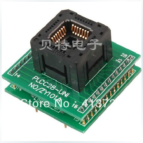 SmartPRO X5/X8 programming block PLCC28 transfer ZY101A test socket adapter ic qfp32 programming block sa636 block burning test socket adapter convert