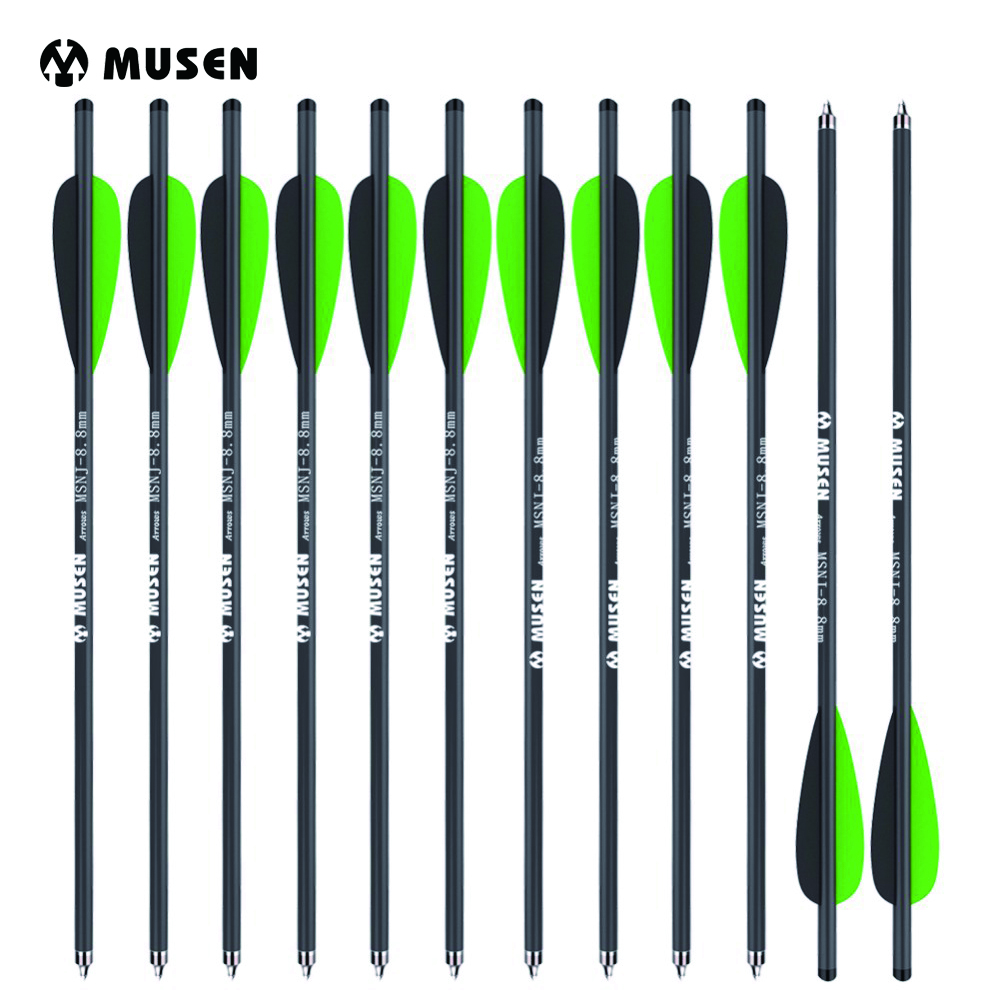 12/24pcs 17 Inches Crossbow Carbon Arrow Target Arrows with 125 Grain Crossbow Arrow Broadheads 2 Green 1 Black Feather Hunting green arrow vol 2 triple threat the new 52
