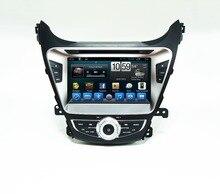 8 » HD 1024 * 600 сенсорный экран dvd-gps магнитола двухъядерный android-4 4.4 емкостный для Hyundai Elantra 2013 2014 аудио BT