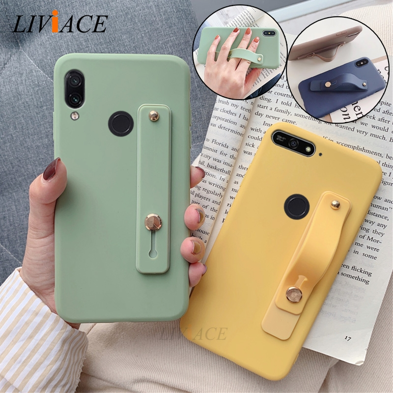 Wrist Strap Hand Band silicone case for <font><b>huawei</b></font> y5 y9 <font><b>y7</b></font> y6 <font><b>prime</b></font> pro <font><b>2019</b></font> 2018 2017 holder stand soft tpu <font><b>back</b></font> <font><b>cover</b></font> image