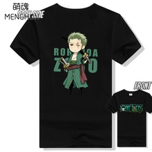 Roronoa Zoro high quality One piece cotton high quality 220g anime fans tee shirt zoro t shirts ac515