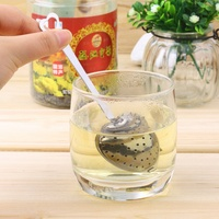 2pcs 4.5cm Stainless Steel Kettles Infuser Strainer Tea Locking Spice heart Shaped spoon Ball