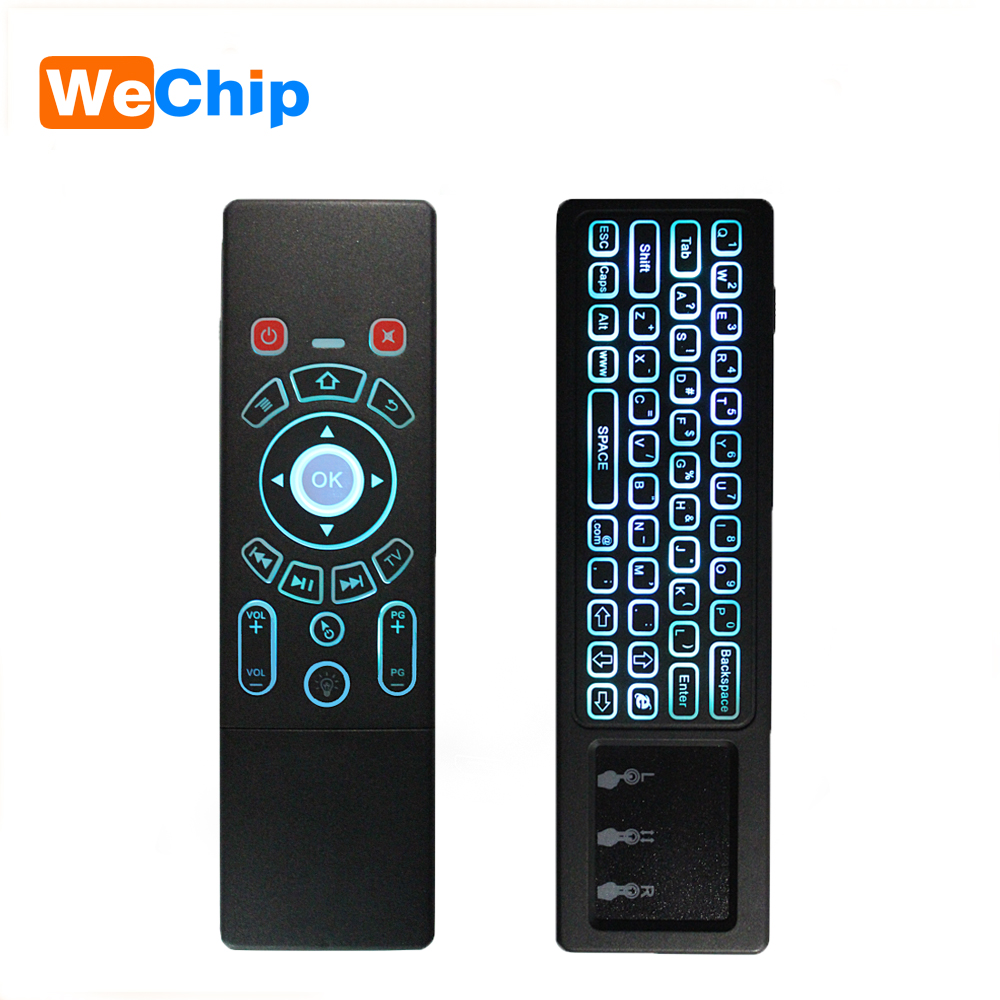 T6 Air mouse with Wireless Keyboard T6 backlight touchpad Remote Control for Smart TV Android TV Box mini PC HTPC Projector 2016 new rii k18 large size 2 4ghz wireless multimedia mini keyboard touchpad air mouse for pc smart tv htpc iptv android box