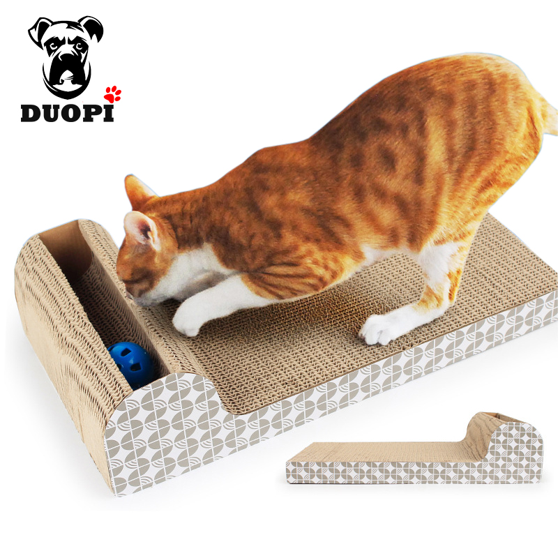 Katze Fluss glocken Katze Well Scratch soundkarte Pad Krallen Interaktive Katze Training kauspielzeug mit Katzenminze