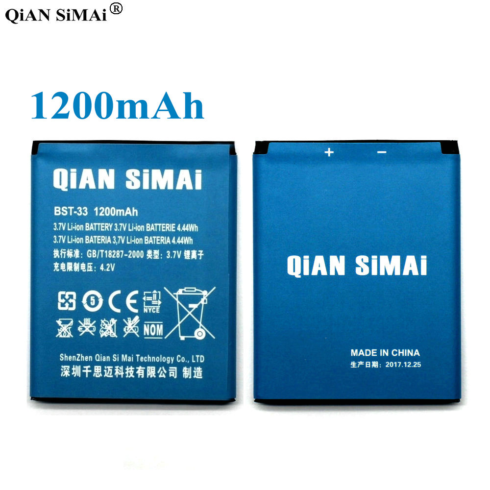 US $3 38 |QiAN SiMAi High Quality BST 33 1200mAh Battery For Sony Ericsson  K530 K790 K790i K790C K800 K800i K810i K818C W595C-in Mobile Phone