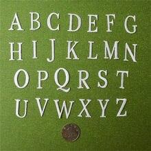 Patchs brodés avec lettres majuscules et lettres anglaises, lettres majuscules, à appliquer sur sacs à vêtements, application sur le nom d'enfants
