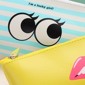 Image 5 - 20 adet Kawaii kalem kutusu Modern kız PU hediye Estuches okul kalem kutusu kalem kutusu kalem çantası okul malzemeleri kırtasiye