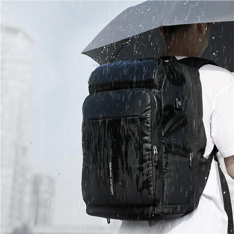 High Quality Genuine Leather Large Backpack Men Laptop Bag Daypack Black / Coffee Casual Business Leather Backpack Men #MD J7335 - 3