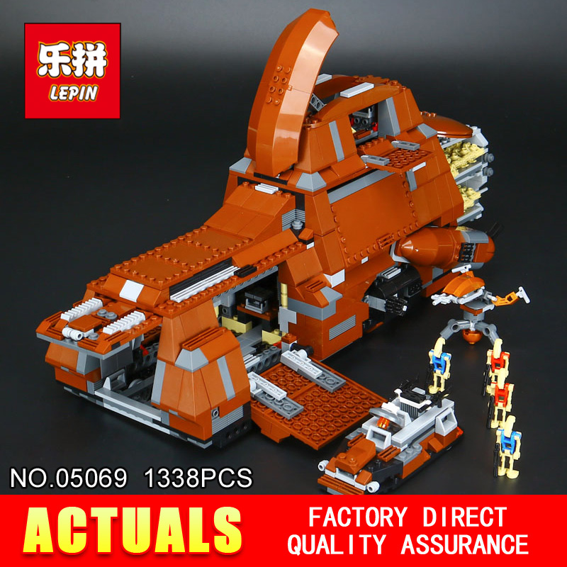 LEPIN 05069 Star 1338Pcs Model Wars Stunning The Federation MTT Transportation Tank Set Children Building Blocks Bricks Toy 7662