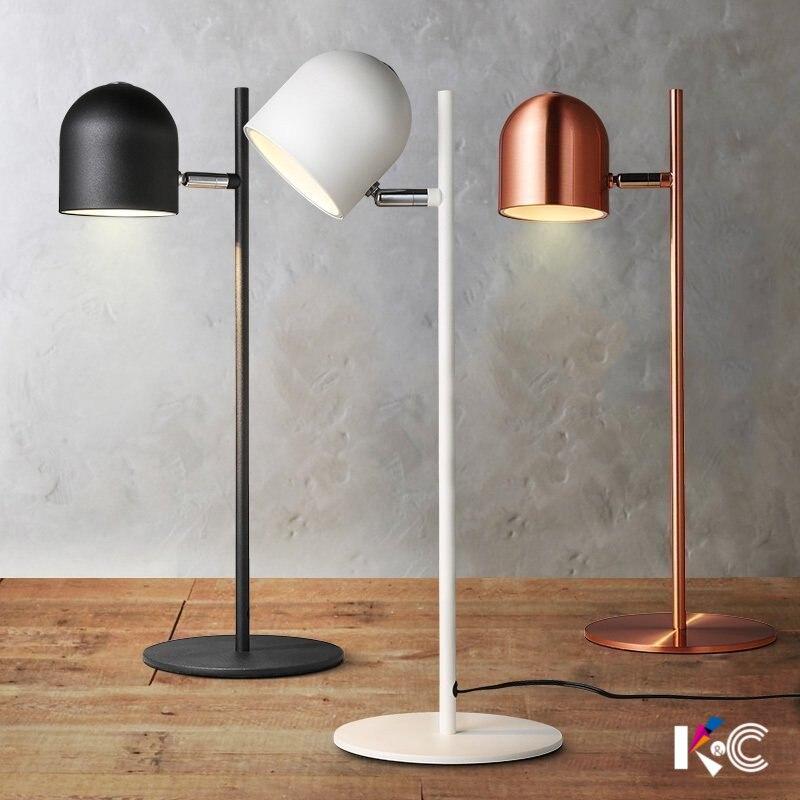 LED lampe de gradation moderne minimaliste scandinave personnalité iron eye bureau lampe de bureau travail pour apprendre à lire lampe de bureau