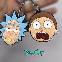10 teile/los Anime Rick und Morty PVC action Figure Keychain phone strap Anhänger Spielzeug geschenke