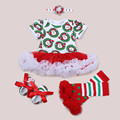 Newborn Clothes Set for Christmas Party Dress 2016 New Style Bebe Birthday Costumes Vestidos Infant Festival Fluffy Dresses